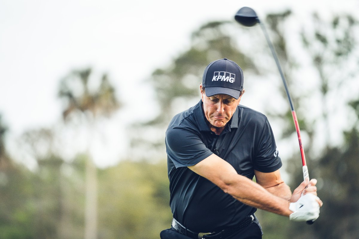 """""""The Thrill"""" takes on Stone Canyon this Friday. 😎👍   Take a look at what @PhilMickelson has in the bag for #TheMatch >>>"""