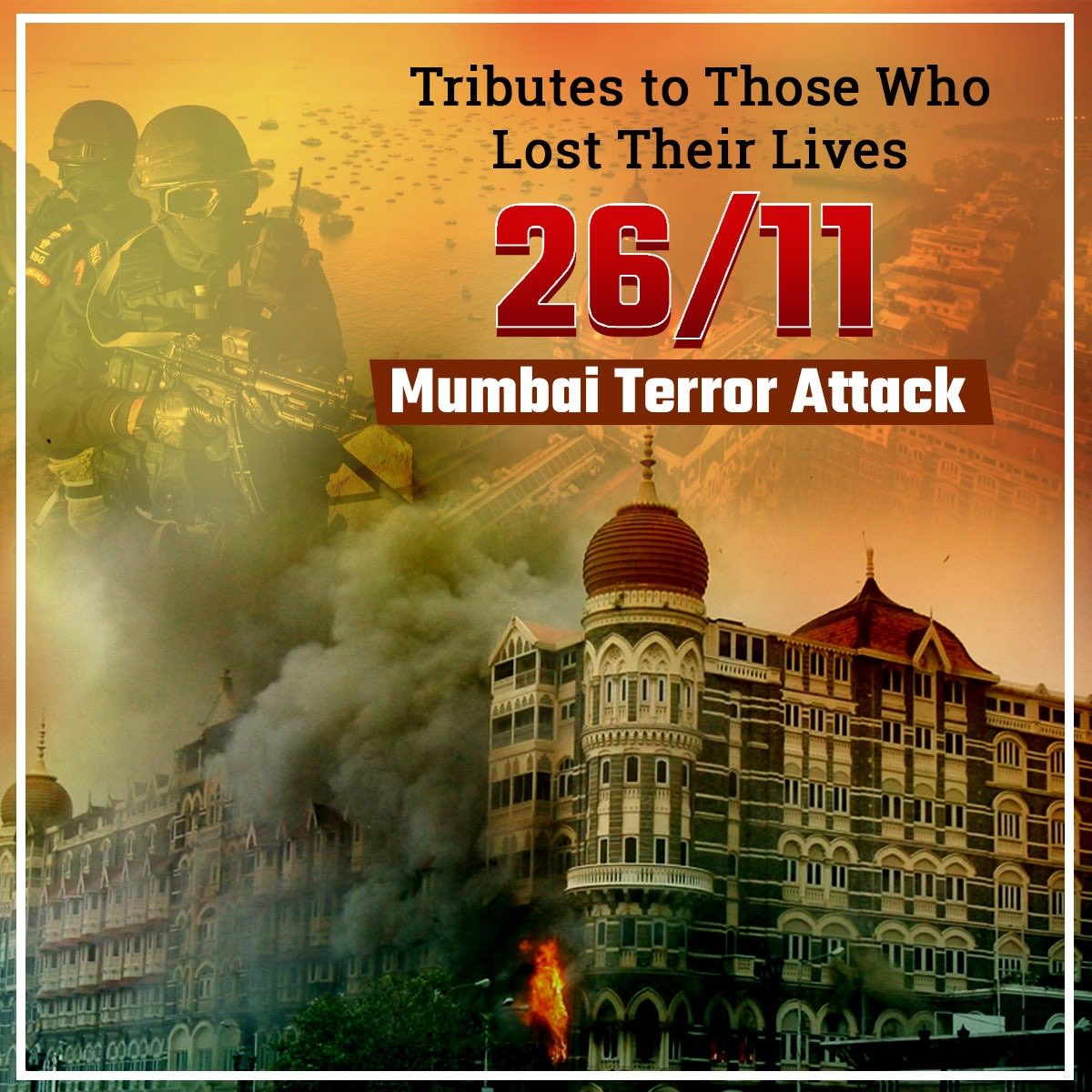 A symbol of the strength and resilience of this city that withstood the ghastly #MumbaiTerrorAttack! All thanks to our police force, the army & the people! #26/11