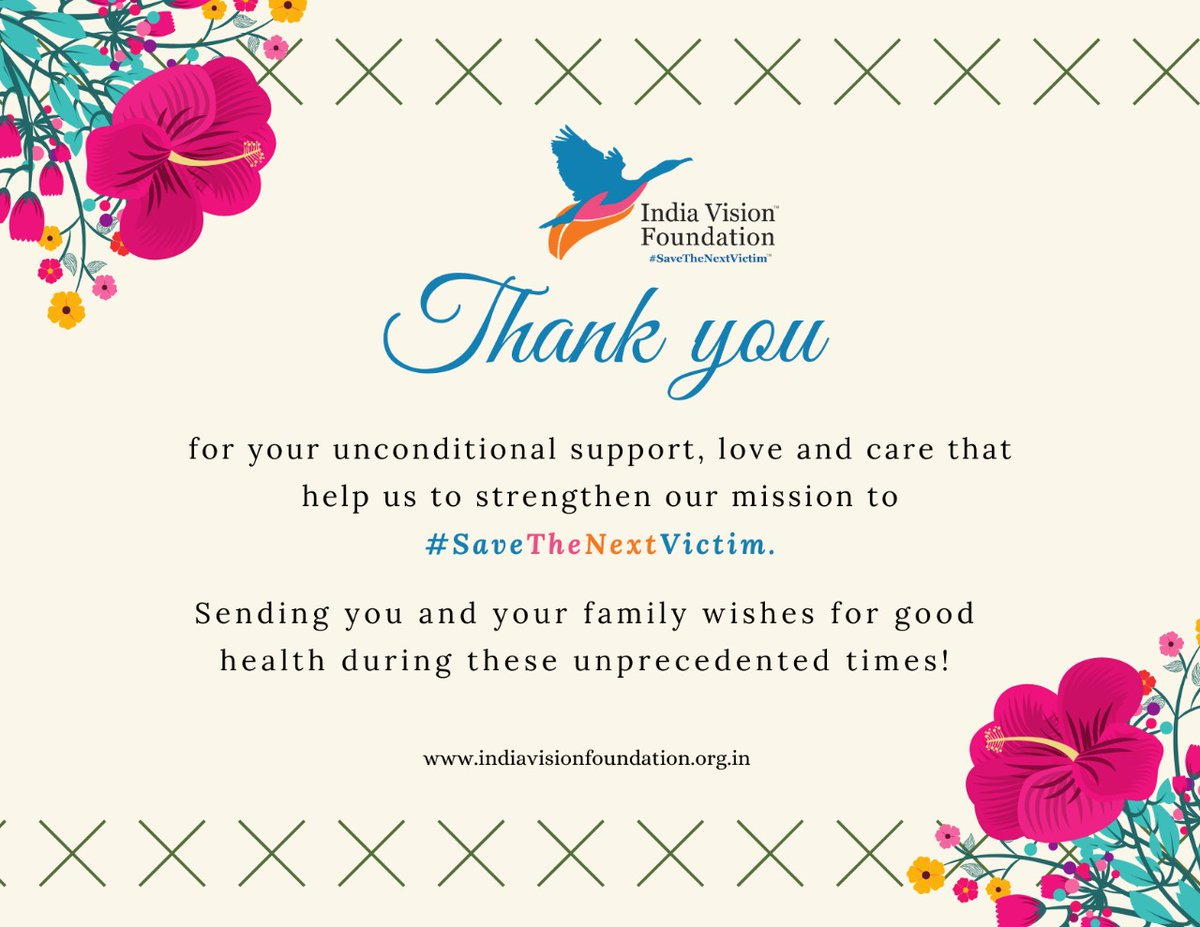 This #ThanksGiving we would like to extend gratitude towards each & every individual who has been part of our journey in the times of crisis & have shown support & trust in us helping to strengthen our mission to #SaveTheNextVictim & be able to help them through the pandemic 🙏