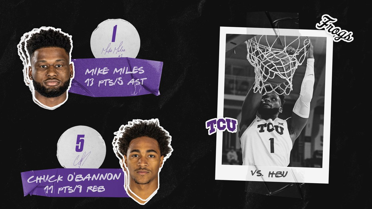 Solid first game for the new guys, @MikeMilesJr_ and @mrobannon5.   #GoFrogs 😈 https://t.co/vc6va30yAB