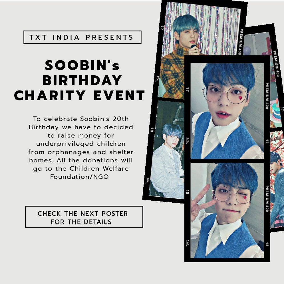 MOAs! #TXT_SOOBIN Birthday Charity event is about to end in a few days.  Every Rupee will be count💰  All the raised money will go to Orphanage to help some better days of these children's life!  Let's help if we can 🙏💕 #투모로우바이투게더 #TXT #TOMORROW_X_TOGETHER @TXT_members