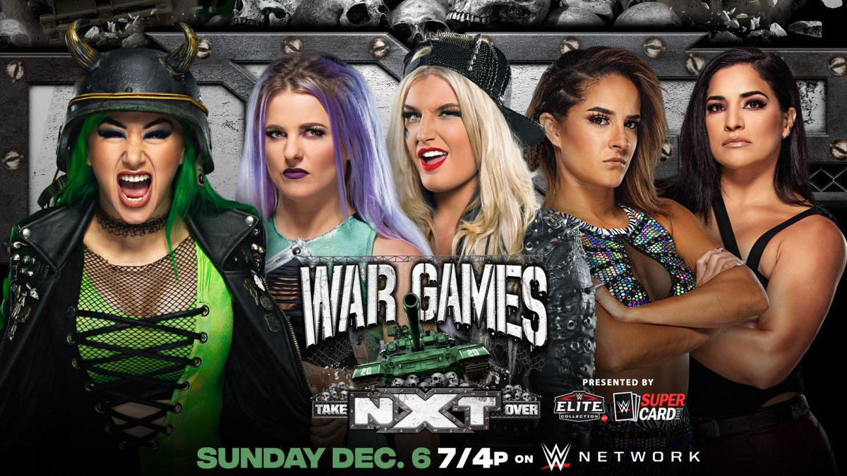 With @DakotaKai_WWE @RaquelWWE & Toni Storm in her corner, @CandiceLeRae is armed and ready for #WarGames! #NXTTakeOver #WWENXT   Your move, @ShotziWWE...