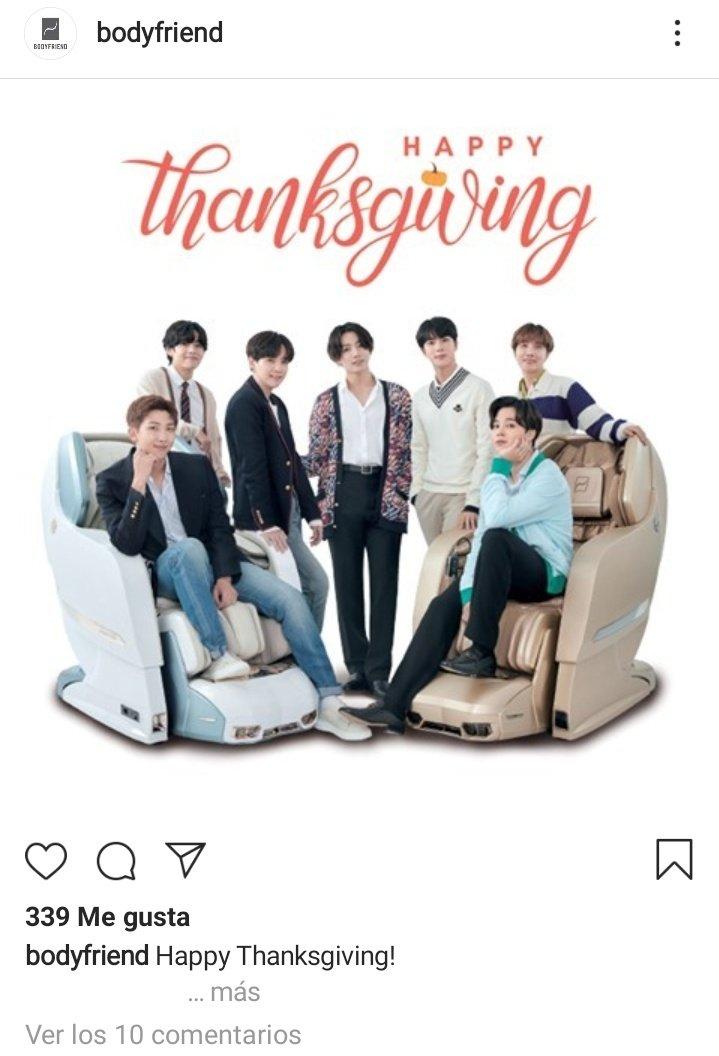 📸 | Bodyfriend postou uma nova imagem promocional para BTS em sua conta do Instagram para celebrar o Dia de Ação de Graças!  🔗  #BTS #방탄소년단 @BTS_twt