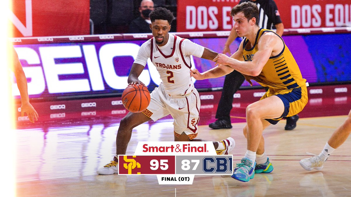 FINAL (OT): USC 95, CBU 87  Trojans come out on top in their season opener! https://t.co/PCQ2VZTJjq