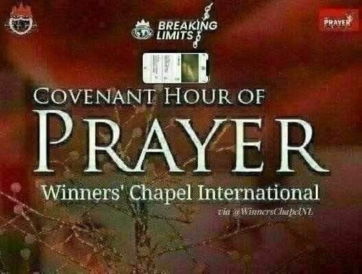 Covenant Hour of Prayer (#CHOP), THUR., NOV. 26TH., 2020- Is Now LIVE Or On Demand,  From #Canaanland, Via #Facebook :👉  👈And Via #YouTube :👉 👈  Winners' Chapel International   You're Welcome   #BreakingLimits  