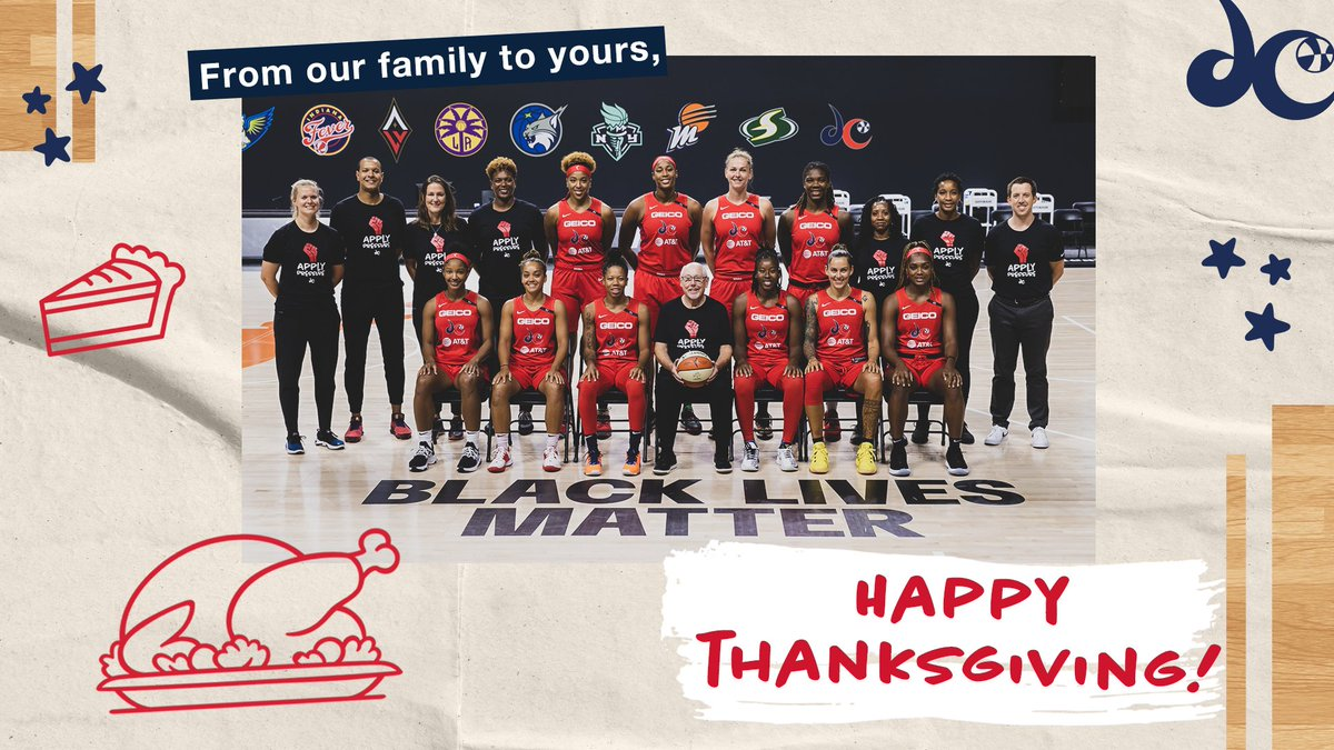Replying to @WashMystics: We have so much to be thankful for 🦃🥧💛  Happy #Thanksgiving! Stay safe & healthy!   #TogetherDC