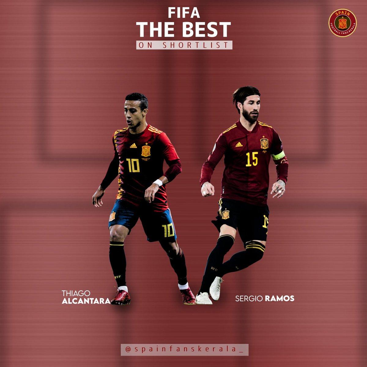 Sergio Ramos & Thiago Alcantara are among the 11 nominees for #TheBest FIFA Men's Player award!  #SomosEspaña🇪🇸 #SFFK