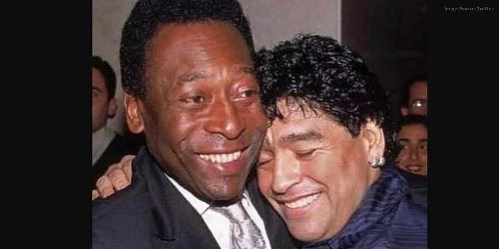 "An honour well deserved! #Pele expresses grief on the demise of #Maradona, changing his profile and quoting, ""Hope we can play together in the sky one day"".  #HandofGod #diegomaradona #DiegoArmandoMaradona  #Pele80 #Maradona60 #RIPMaradona #RIPDiegoMaradona #RIPLegend"