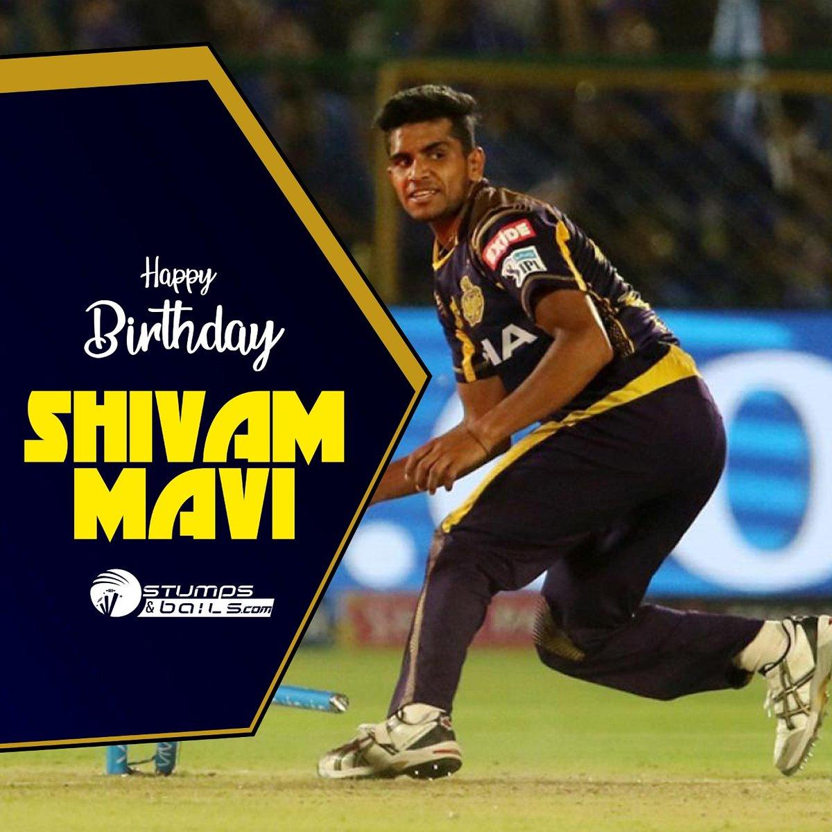 Happy Birthday @ShivamMavi23  Follow us @stumpnbails  #Indiancricketer #Cricketerbirthday #Cricketer #KKR #kolkataknightriders #HappybirthdayShivamMavi