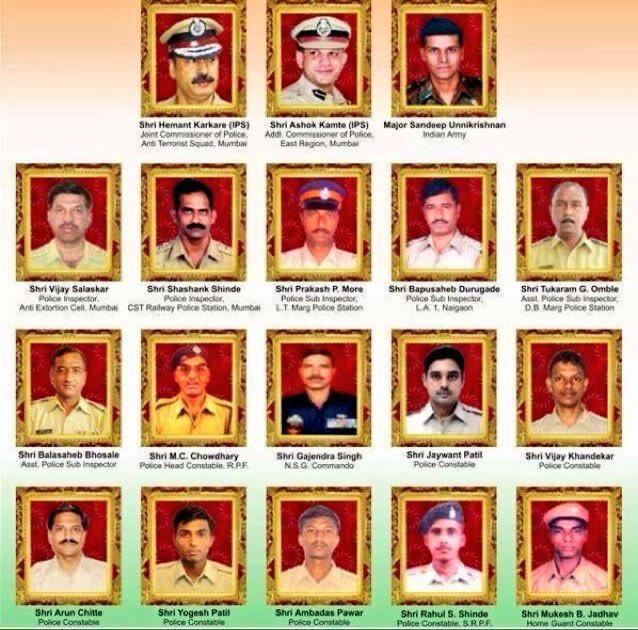 Salute to the martyrs who lost their lives in #MumbaiTerrorAttack ..   अगर उस दौरान मोदी जी प्रधानमंत्री होते, तो मुंबई पर हमला करने के लिए पाकिस्तान को बहुत भारी कीमत चुकानी पड़ती |