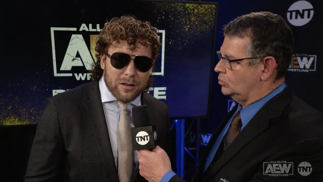 Kenny looking awfully Flair-like lately #AEWDynamite