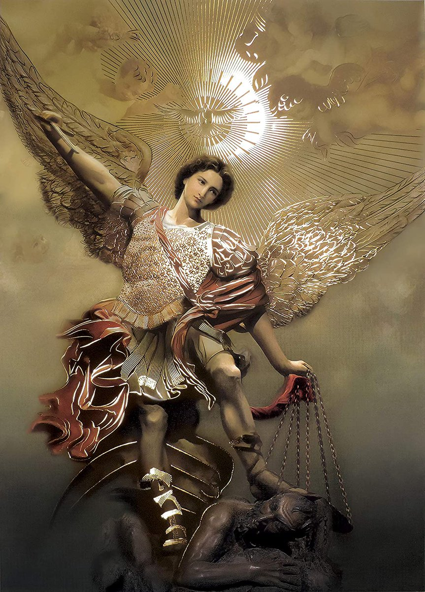 @Pontifex St. Michael the Archangel Defend us in battle. Protect us against the devil.   May God rebuke him we humbly pray; and do thou. O Prince of the Heavenly host, by the power of God, cast into hell Satan and all the evil spirits. Amen.