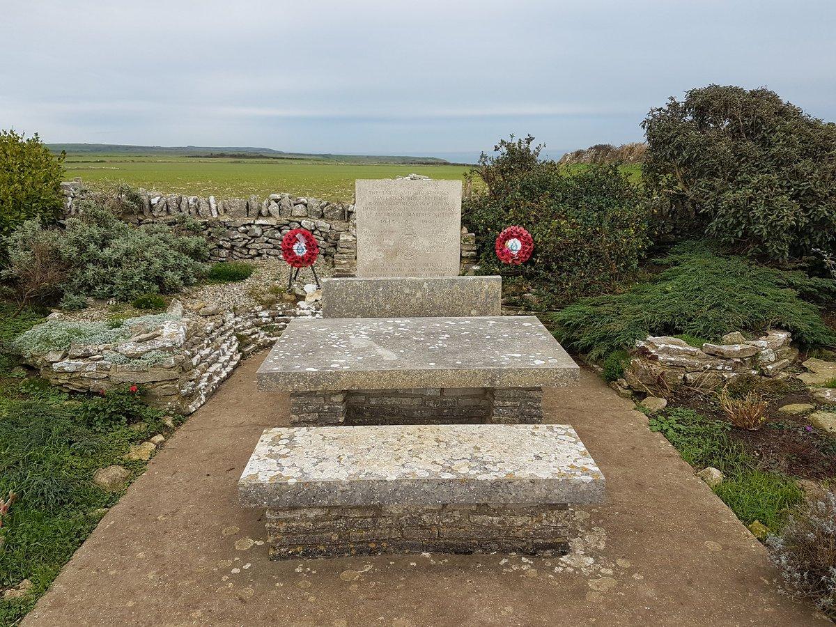 The Royal Marine Commando Memorial overlooking Chapmans Pool. #Dorset  #LestWeForget