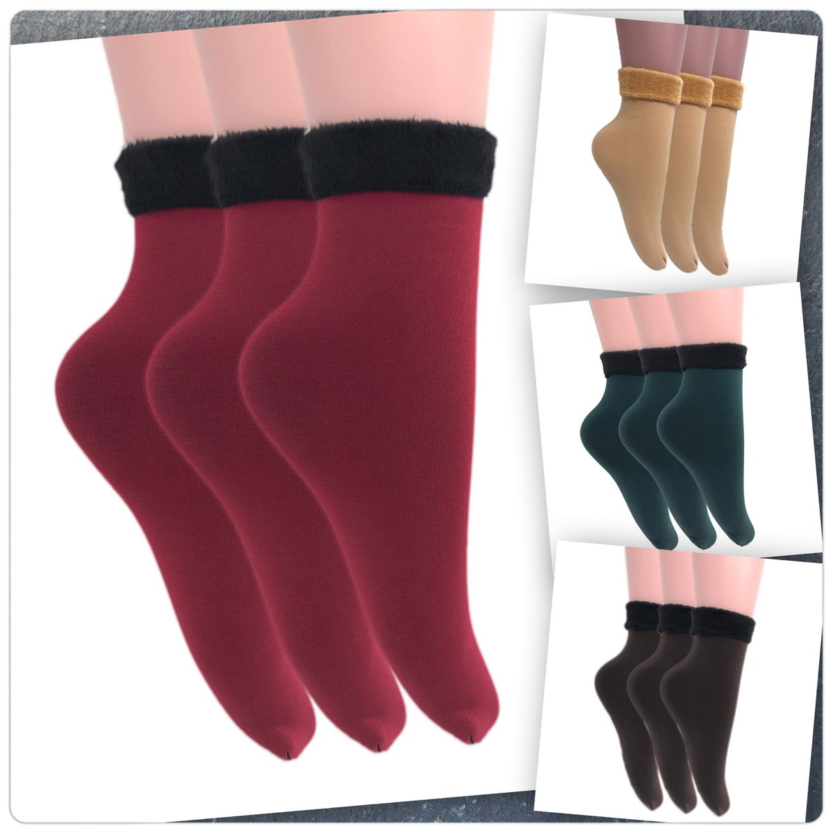 Going fast! Our soft, fuzzy velvet socks make a perfect gift this #holidayseason for your loved ones and even yourself!   More colors&styles available!  For more information please visit .  #fuzzysocks #giftideas #fashion #womensfashion #Christmas