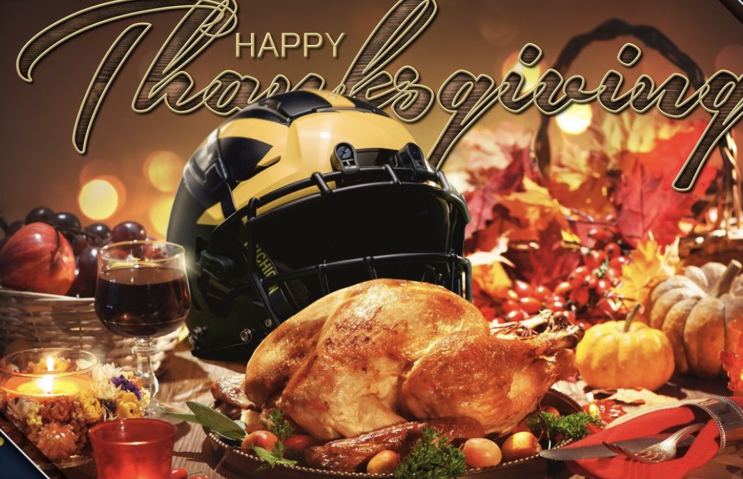 HAPPY THANKSGIVING EVERYONE !!🍁🦃💙💛 Stay Blessed and be thankful for what you DO have and NOT things we don't !!! #HappyThanksgiving2020 #HappyThanksgiving #GratefulHeart #GoBlue