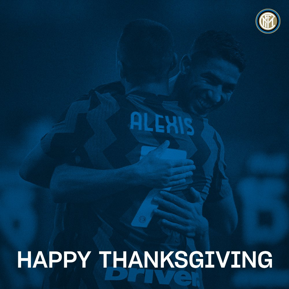 Wishing all those celebrating today a very #HappyThanksgiving! 🤗  #Thanksgiving #ForzaInter