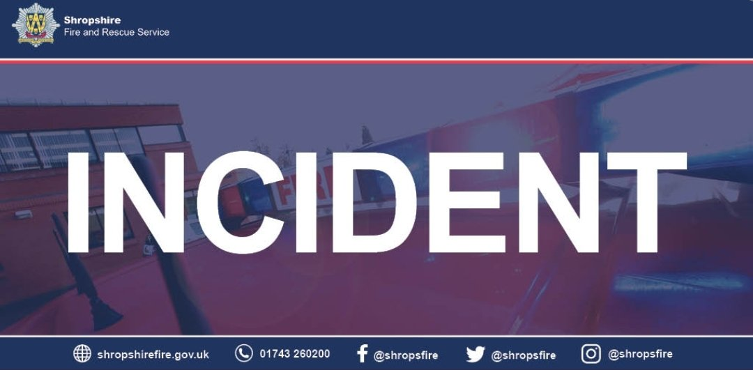 Much Wenlock, along with colleagues from around the county, are currently dealing with a large incident on Severn Way, Cressage. Please avoid the area.  #MuchWenlock #OnCall #ShropsFire #YourFireCrew #Cressage