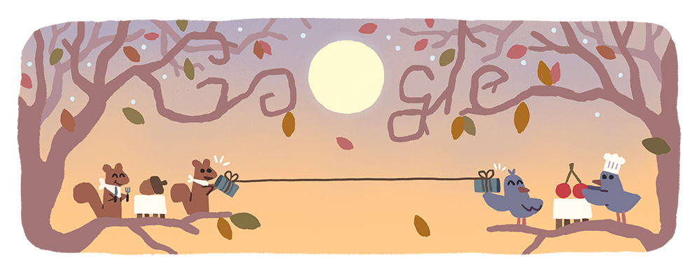 Though this year will look a bit different for folks around the country, today's #GoogleDoodle—and the furry and feathered friends in it—wishes everyone a #HappyThanksgiving! 🍂 🍽  →