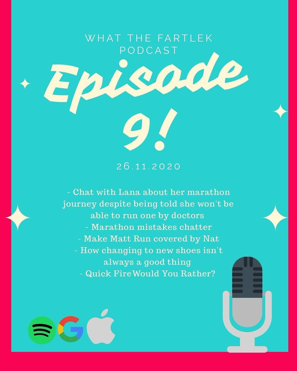 It's podcast day!  Slight delay but Ep9 is now available for your listening pleasure!  As well as talking to the awesome @run_lana_run we have some marathon mistakes, A quick fire would you rather and a Xmas themed make NAT run!  https://t.co/en2sVl2MxQ  #ukrunchat #runr #podcast https://t.co/4Be4WVZVTL