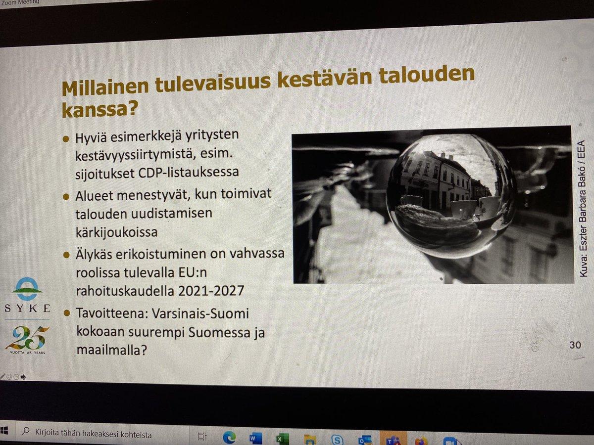 test Twitter Media - Kestävään talouteen siirtyminen ei kivutonta, mutta välttämätöntä. Alueet menestyvät kun toimivat talouden uudistamisen kärkijoukoissa. V-S tavoitteeksi olla kokoaan suurempi Suomessa ja maailmalla? @SRSaarela @SYKEinfo #vskumppanuus #kumppanuusfoorumi2020 https://t.co/Fih5q4pAdM