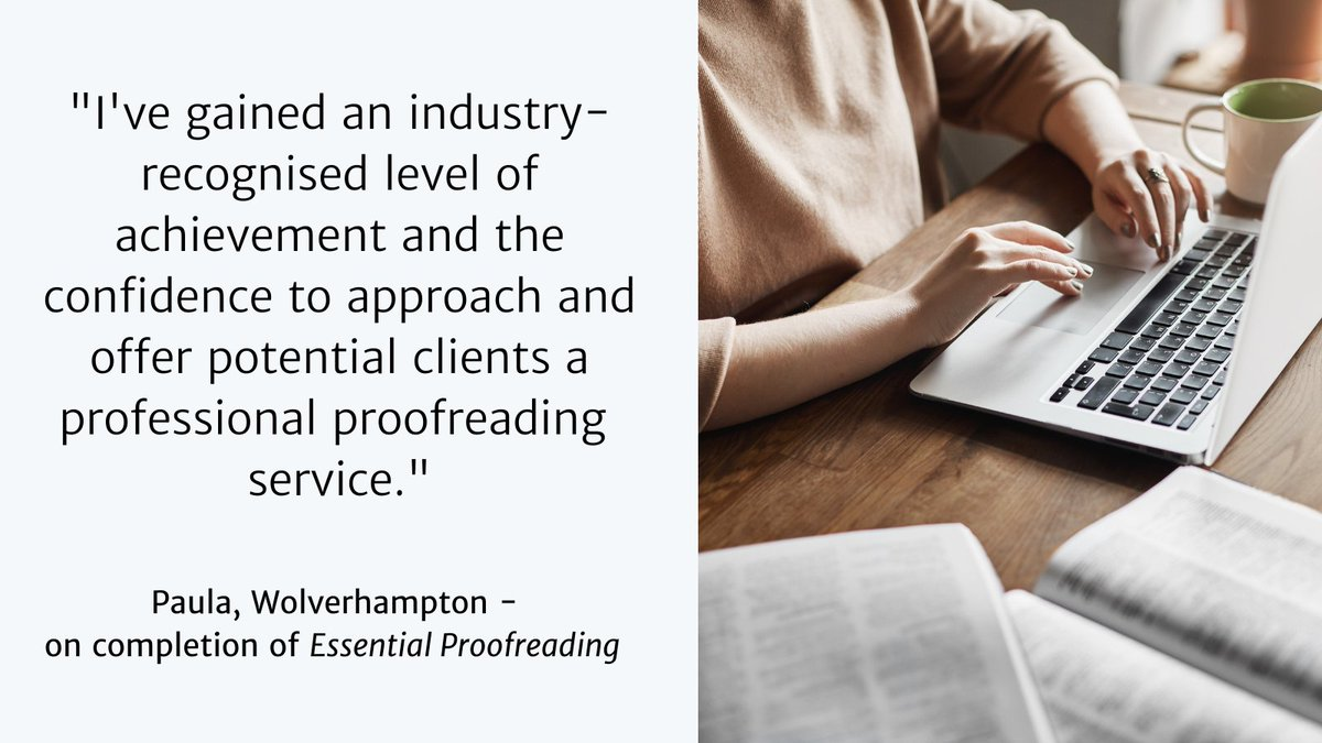 Contemplating a career change? One which is interesting and flexible? Why not train to be a #proofreader in #publishing? Study from home, have the support of a tutor and gain an industry-recognised qualification with Essential Proofreading. Enrol here: ow.ly/pDj050Co8Vl