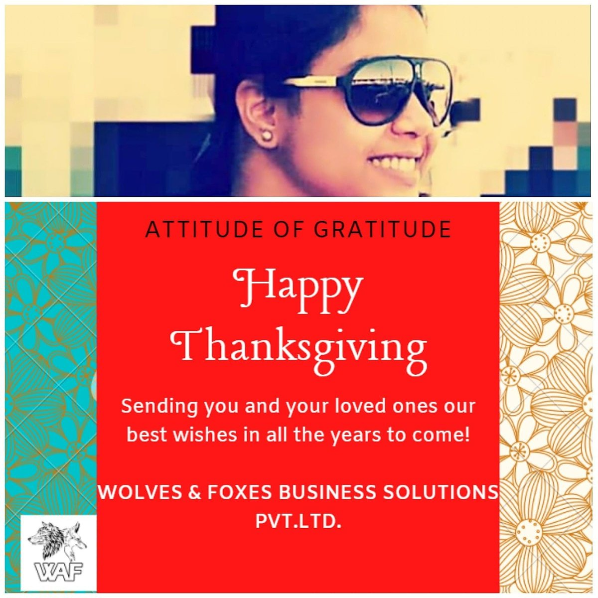 There is always always something to be grateful about. Happy Thanksgiving 🥰🥰🥰 #Thanksgiving #ThanksgivingEve #Thanksgiving2020 #ThankYouTaker #thankyouall #ThanksToYou #lotsoflove #wolvesandfoxes #india #coimbatore