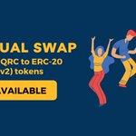 Image for the Tweet beginning: Still holding QRC-20 tokens? Get