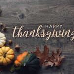 Image for the Tweet beginning: Happy Thanksgiving! This year has