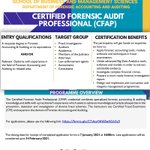 Image for the Tweet beginning: Certified Forensic Audit Professional (CFAP)