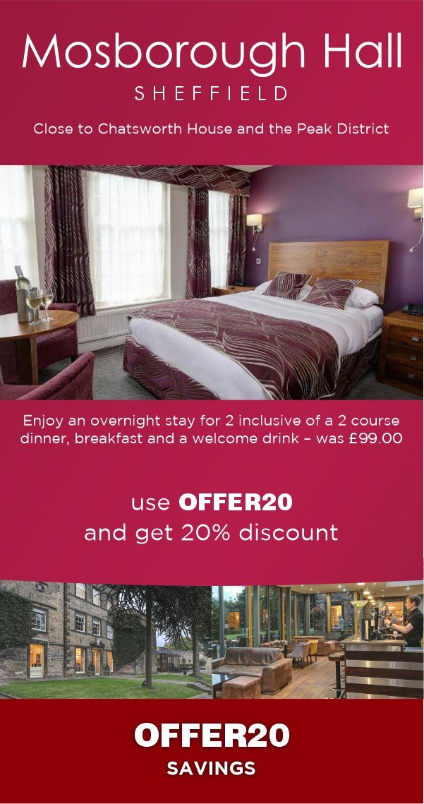 BLACK FRIDAY DEALS   Get 20% off selected gift vouchers with us, including overnight stays and dining experiences.   Shop using the link below, use the code OFFER20 to receive the discount!   https://t.co/lZ3xxbftey  The perfect gift this year!   @MarketingSheff https://t.co/vd3Wjnwg4Q