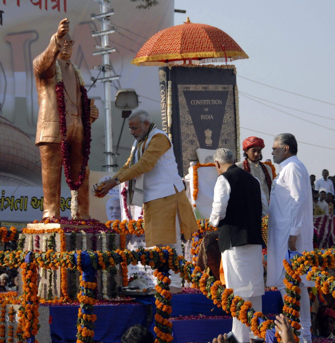 In 2010, to mark 60 years of the Constitution, we organised the Samvidhan Gaurav Yatra in Surendranagar, Gujarat. A replica of the Constitution was placed on an elephant and the procession covered parts of the city. I too walked in that procession. It was a unique tribute!