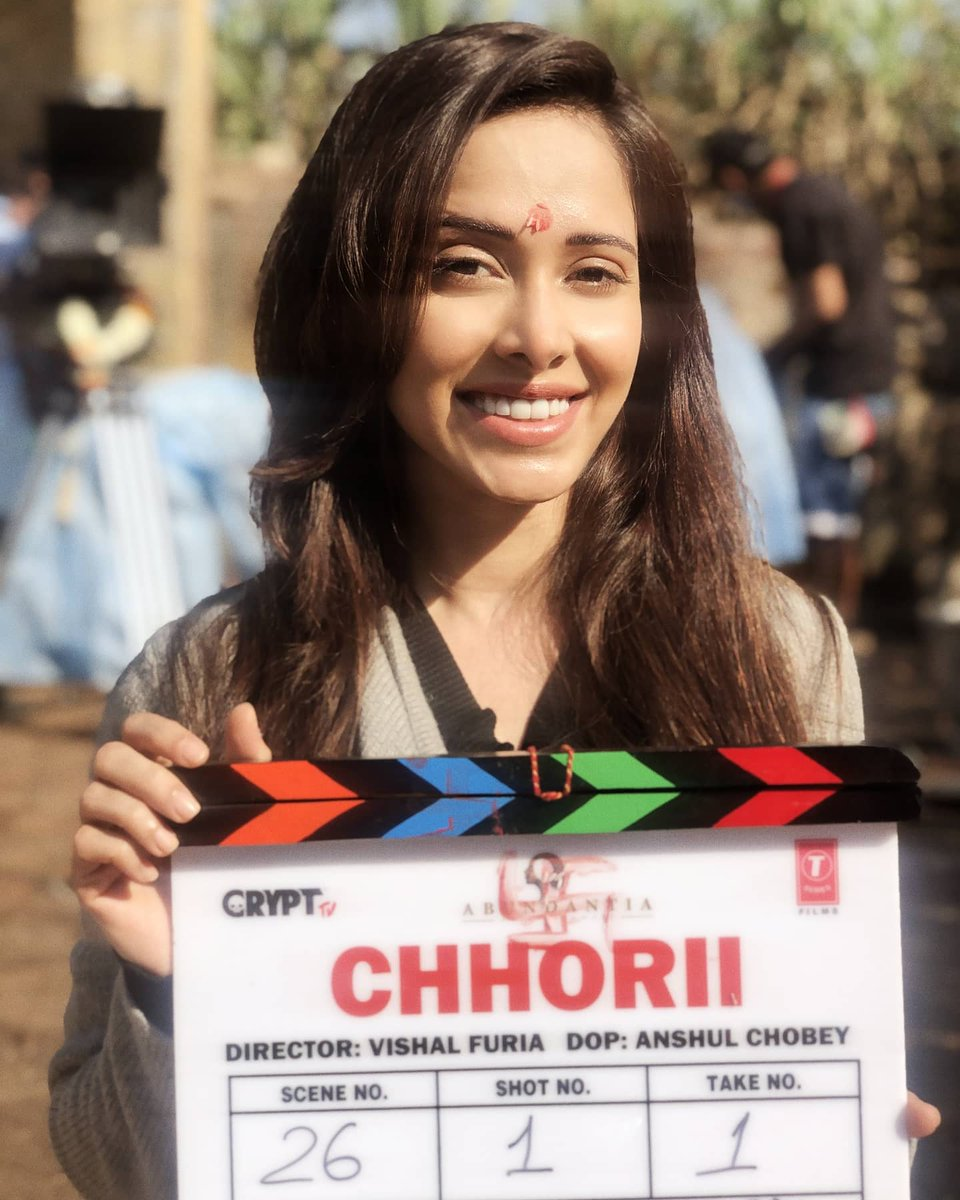 Onto new beginnings, this time for #Chhori (#छोरी). Excited, nervous & charged up! @FuriaVishal cant wait to create magic with u! Thank u @vikramix @Abundantia_Ent, along with @CryptTV & the sweetest @NotJackDavis for having put this thrilling film together & trusting me with it!
