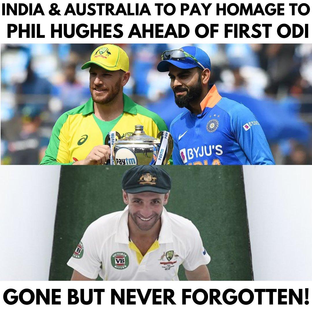 #IndiavsAustralia: India & Australia to pay Homage to Phil Hughes... . #Cricket #AUSvsIND #INDvsAUS #australiatour #indiancricket #sports #IndianCricketTeam #AUSvIND #INDvAUS