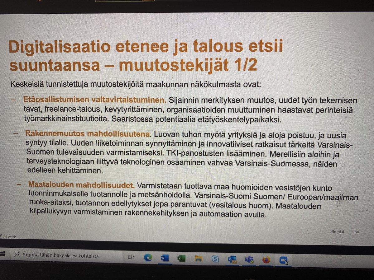 test Twitter Media - Millaisia, eri teemoihin liittyviä muutostekijöitä Varsinais-Suomen näkökulmasta voidaan tunnistaa? @4FRONT_fi asiantuntijat kertovat. #kumppanuusfoorumi2020 #vskumppanuus #maakuntastrategia https://t.co/ad9kxlKl50