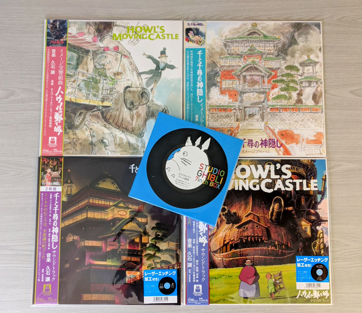 JUST IN: Joe Hisaishi's Studio Ghibli Soundtracks We've got loads of goodies for you Ghibli fans. Not only have we got the striking scores for the classic animations 'Spirited Away' & 'Howl's Moving Castle', the sought-after 7-inch box set has returned. normanrecords.com/artist/33530-j…