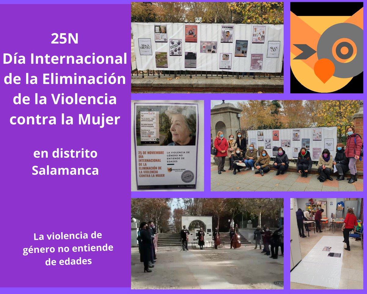 test Twitter Media - El Centro de Servicios Sociales Guindalera, + otros recursos y entidades del Distrito de Salamanca, conmemoraron ayer #25N el Día Internacional de la Eliminación de la Violencia contra la Mujer. Compartimos la composición de mensajes que se pueden ver en el Parque Eva Perón.💜 https://t.co/TmQrD17oiY