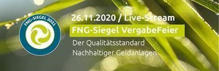 Heute um 14 Uhr ist es wieder soweit: Im Rahmen der FNG-Siegel VergabeFeier werden zum sechsten Mal nachhaltige Investmentfonds ausgezeichnet.  Für Anmeldungen: event@forum-ng.org #fng #NachhaltigeGeldanlagen #SRI #ESG