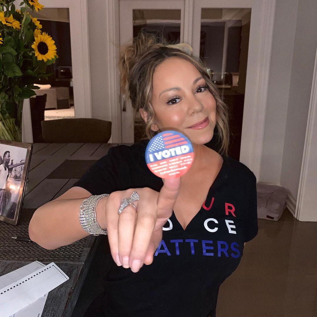 Mariah Carey VOTE! 🗳️ #iwillvote #everyvotecounts #womenarevoting #yourvotematters #iamavoter #bidenharris2020
