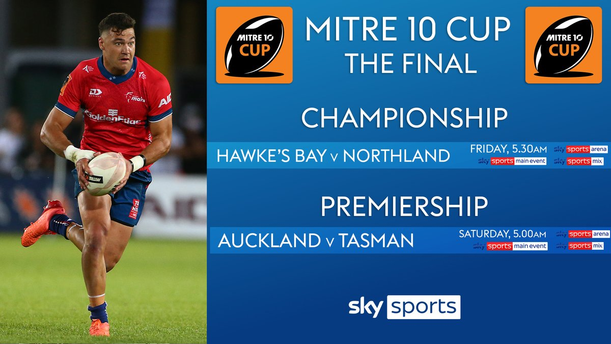 test Twitter Media - It's the #Mitre10Cup finals this weekend!🏆  👉CHAMPIONSHIP FINAL: @hbmagpies vs @RugbyNorthland   👉PREMIERSHIP FINAL: @AucklandRugby vs @TasmanMako    Who are you backing? 👊 https://t.co/j5uvLUK6aV