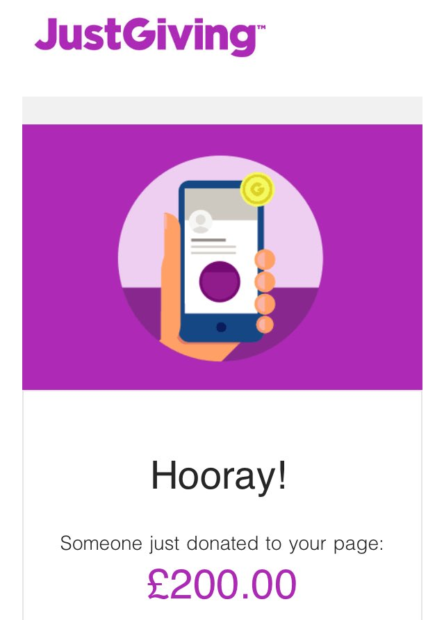🤩 WOW 🤩  What a start to the day!!  Thank you to the £200 anonymous donor to our Just Giving page this morning.  Nearly at the half way point of out target 🥳  Please follow the link to donate what you can 🙏    #HungerFreeFuture #ENDCHILDFOODPOVERTY #UTS