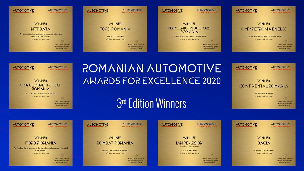We are proud to receive the Innovation Award of AUTOMOTIVE INDUSTRY FORUM & AWARDS, 2020 edition, with three projects initiated by our R&D Team.   Congratulations to all the winners and nominees! https://t.co/svp8P01hCq