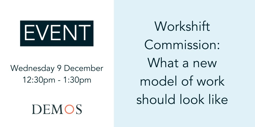 🚨 NEW EVENT 🚨 What should a new model of work look like? Were launching our new programme on the future of work with an online discussion, joined by panellists including: @juliahobsbawm, @pollymackenzie, @Modern_Lockey and @dsem221! Register here 👇 ow.ly/JVKM50Cvtpr
