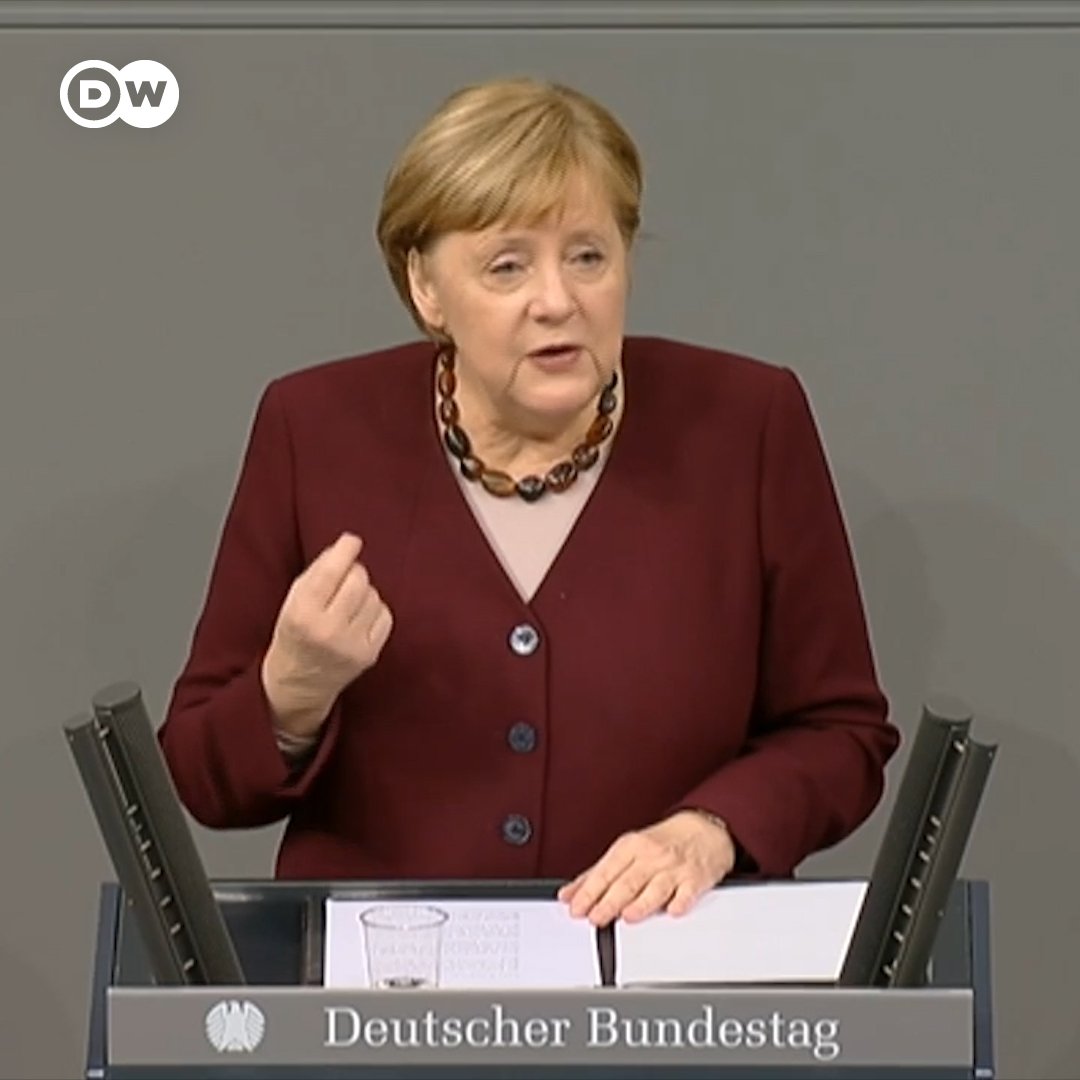 "Chancellor Merkel: ""The coronavirus pandemic is and remains the greatest challenge since WWII, for Germany, for the European Union and for the whole world. But there is also reason for hope."""