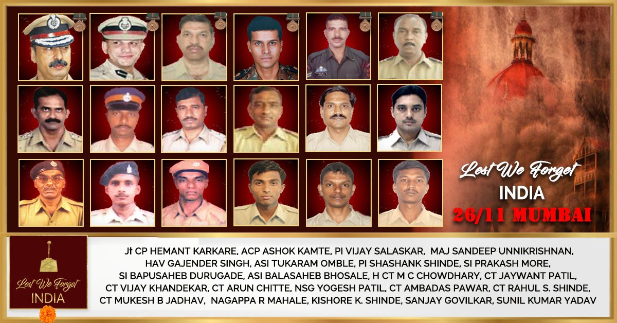 Wounds are healing, but memories are still as painful. Remembering all the innocent lives lost during the 26/11 #MumbaiTerrorAttack. Salute to our bravehearts who saved so many lives, they will be in our thoughts and prayers forever! 🙏 #2611Attack #BlackDay #LestWeForget