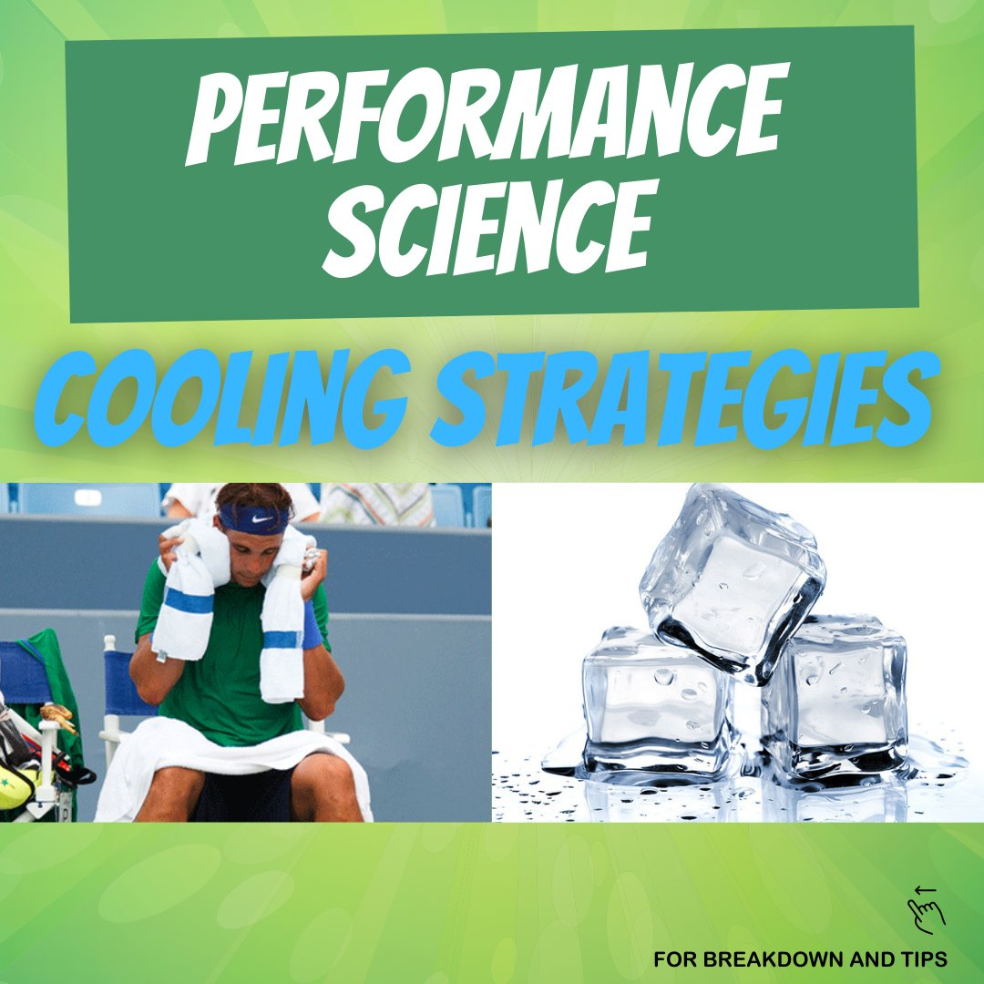 More performance science coming your way!  Cooling strategies during training and competition to help you last longer and play better in those hot summer days ☀️  https://t.co/G2rj6mLZEG  #tennispro #tennis #tennis🎾 #tenniscourt #tennislife #tennisplayer #sportscience https://t.co/RpRXYF0DtT