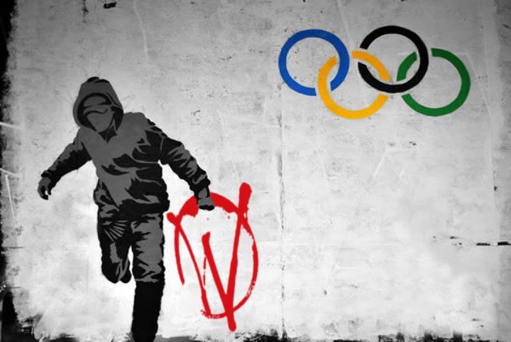 The Banksy piece that never quite made it out.  #warriors #stevelawler #techhouse #techno #housemusic #wearewarriors