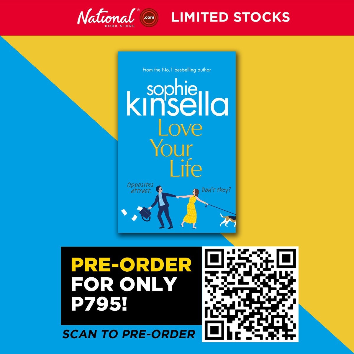 Pre-order Love Your Life by Sophie Kinsella for P795.  Just scan the QR code or visit this link: . #LoveYourLife #SophieKinsella #NBSNewReads #NBSbookstagram #NBSeveryday