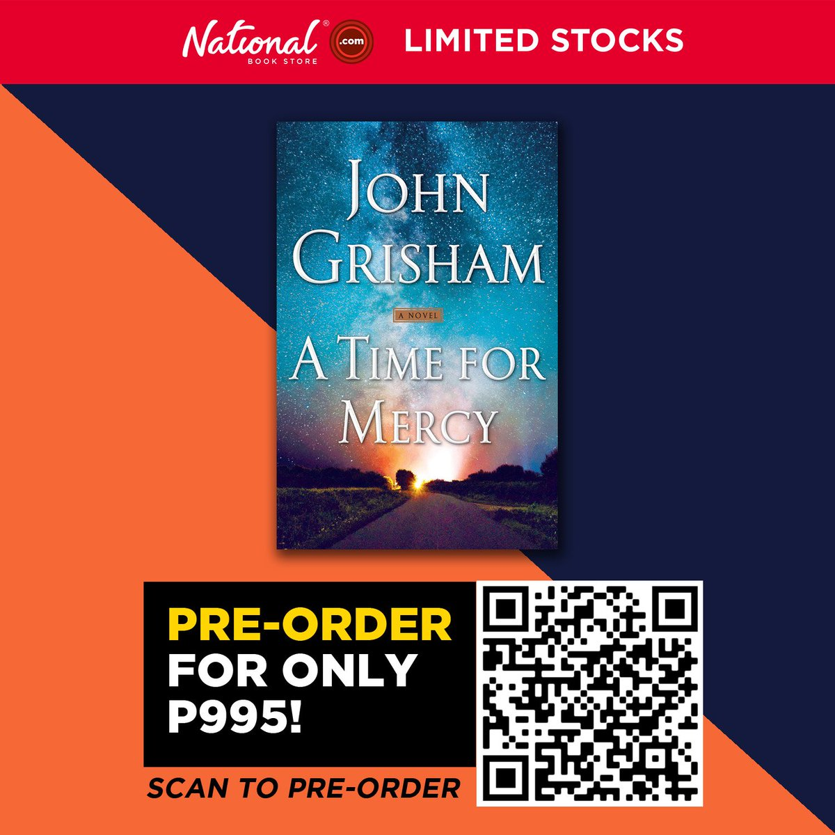 Pre-order A Time for Mercy (Jake Brigance #3) by John Grisham for P995.  Just scan the QR code or visit this link: . #ATimeForMercy #JohnGrisham #NBSNewReads #NBSbookstagram #NBSeveryday