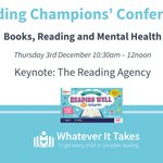 Image for the Tweet beginning: Next Thursday we welcome @readingagency
