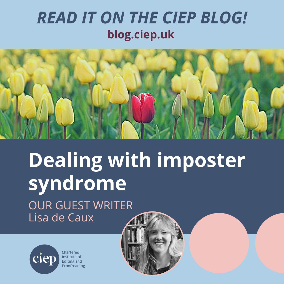 On the CIEP blog: Heres some guidance on how editors can deal with imposter syndrome. Read it here. 👉 bit.ly/3nWrkPM